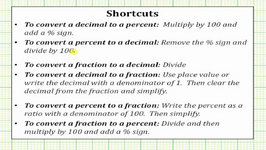 Convert a Fraction of a Percent to a Decimal and a Fraction