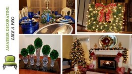 Christmas Tour 2016  Living Room  Foyer & Tablescape With Dollar Tree