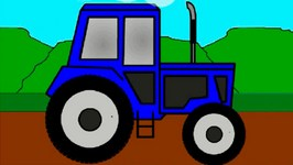 Rainbow Colors Book  Kids Learn Colours And Vehicles  Tractors