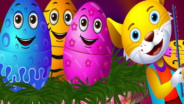Surprise Eggs Nursery Rhymes - Hey Diddle Diddle - Learn Colours And Domestic Animals-ChuChu TV