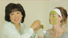 Natural Cilantro and Sticky White Rice Face Mask