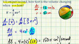Example 3: Related Rates - Determine The Rate Of Change Of Volume With Respect To Time