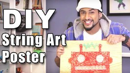 Mad Stuff With Rob - How To Make A String Art Poster- DIY Art & Crafts