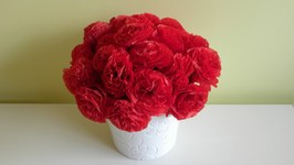 How To Do A Bouquet Of Tissue Paper Flowers