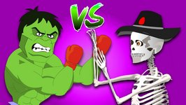 Skeleton Vs Hulk Finger Family Club House - Epic Battles Finger Family Rhymes
