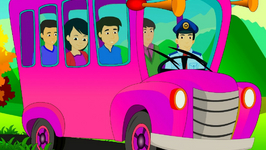 Wheels On The Bus Go Round And Round - Nursery Rhyme