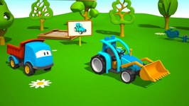 Kids 3D Construction Cartoons For Children 4  Leo The Truck Builds A Tractor