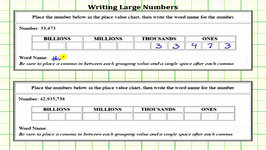 Write Word Names For Large Whole Numbers