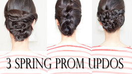 3 Easy Spring Prom Updos for Shoulder-Length Hair