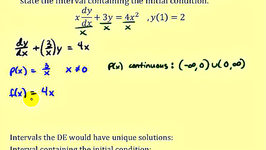 Find the Interval That a Linear First Order Differential Equation Has a Unique Solution