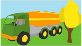 Children's 3D Cartoons - Learn Colors With Leo's Fuel Truck  Painting Lessons