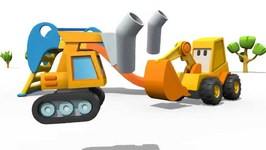 Caterpillar Excavator - Surprise Eggs - Hot And Cold Playground Games Excavator Max