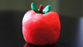 Back-To-School Play Dough Apple