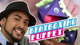 Mad Stuff With Rob  Beatboxing Puppets- Feat. Raj From Voctronica- DIY Craft For Children