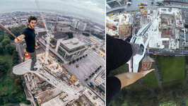 Climbing A Crane For The Ultimate Selfie - James Kingston: POV Adventures