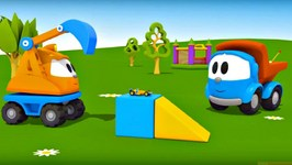 Leo The Truck, Animation For Kids And Construction Cartoon. Leo The Truck Builds A RaceTrack