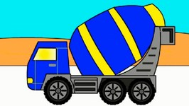 Rainbow Colors Book  Kids Learn Colours And Vehicles  Cement Truck