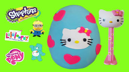 fb824452b Play Doh Surprise Egg Hello Kitty With Shopkins Giant Pez Videos For ...