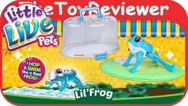 Little Live Pets LLP S1 Lil Frog Habitat Playset Sparkler Unboxing Toy Review