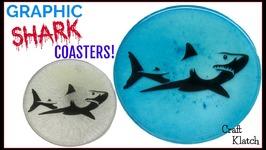 Graphic Shark Coasters  Shark Week  Another Coaster Friday  Craft Klatch