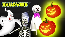 Finger Family - Halloween Skeleton - Pumpkin Cartoons Finger Family Nursery Rhymes For Children