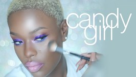Pink and Purple Glitter Makeup for Dark Skin Candy Girl