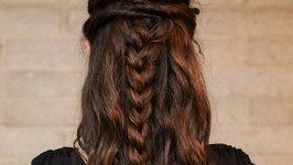 How to: Half Up Twisted Braid Style