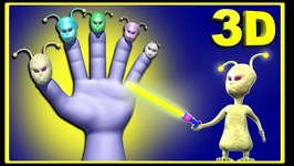E.T (Extraterrestrial) Finger Family Funny Cartoons for Children  Finger Family Nursery Rhymes 3D