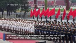 China Rolls Out Red Carpet For Duterte