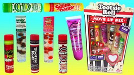 Tootsie Roll Lip Balm Lip Gloss Set Movie Candy Toys Videos For Children
