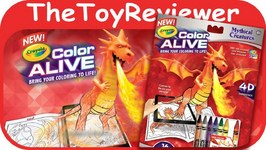 Mythical Creatures Crayola Color Alive Action Coloring Pages Unboxing Toy Review