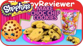 Official Shopkins Magazine Chocolate Chip Cookies Recipe Kooky Unboxing Toy Review