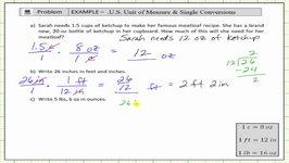 Single Step Unit Conversion Applications (US Standard - Unit Fractions)
