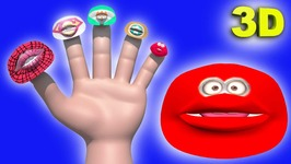 SuperHero Lips Finger Family - Funny 3D Animation Nursery Rhymes and Songs for Children