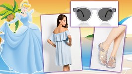 Disney Princess Beach Lookbook - Summer Beach Style - Cinderella, Rapunzel, Ariel and More