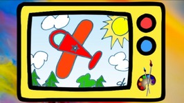 Learn To Draw An Airplane In English For Kids