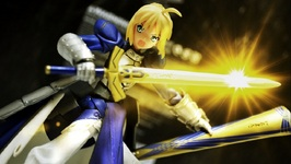 Gundam and Figma Stop Motion : Saber Lily FATE