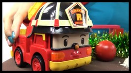 Robocar Transformers  Christmas Fire Truck Snow Rescue Team Toy Car Videos For Kids