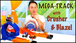 Easter Toys Mega - Track Test With Crusher And Blaze Monster Toy Trucks