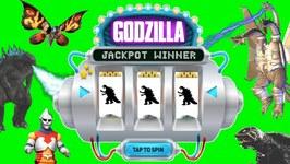 Godzilla JACKPOT SPIN GAME Godzilla Monsters Toys Slime King Ghidorah, Gamera, Mothra Games