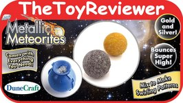 Metallic Meteorites By DuneCraft Gold And Silver Bouncy Balls Unboxing Toy Review by TheToyReviewer