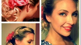 Curly Romantic Vintage Updo