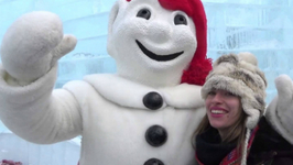 Meeting Bonhomme - Quebec City Winter Carnival