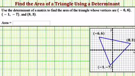 Ex: Find the Area of a Triangle on the Coordinate Plane Using a Determinant
