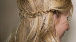 How To - Braided Half Up Half Down Hairstyle