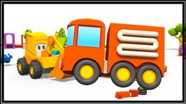 3d Kid's Cartoons  Fire Truck Hide And Seek  Excavator Max - Surprise Egg Construction Machines