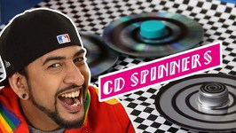 Mad Stuff With Rob - How To Make CD Spinners- Earth Day Special- DIY Craft For Children