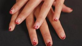 How to do blood drip nail art