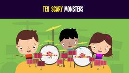 Ten Little Monsters Song for Kids - Halloween Songs for Children