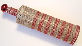 Diamond Wrap Bottle - Dollar Tree Crafts